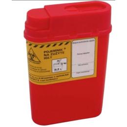 Pojemnik na zużyte igły - 200 ml