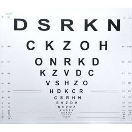 Tablica okulistyczna - kliniczna 67 x 62 cm