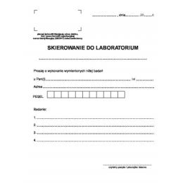 Druki - Skierowanie do laboratorium (100szt)