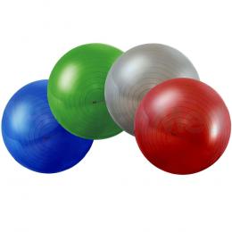 Piłka do rehabilitacji z pompką - ABS 75 cm (srebrna)