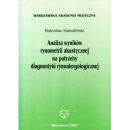 Analiza wyników rynometrii akustycznej na potrzeby diagnostyki rynoalergologicznej