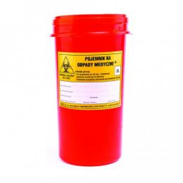 Pojemnik na zużyte materiały medyczne - 2 L