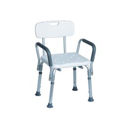 Krzesło prysznicowe z oparciem i uchwytami bocznymi