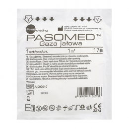 Gaza bawełniana jałowa - 1m 17-nitkowa (1szt)