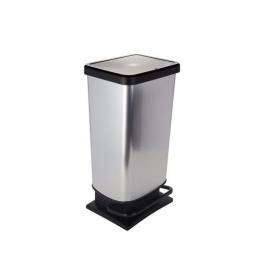 Kosz na odpady - 40L metalowy prostokątny