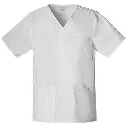 Bluza damska i męska - V-Neck Top U, biała