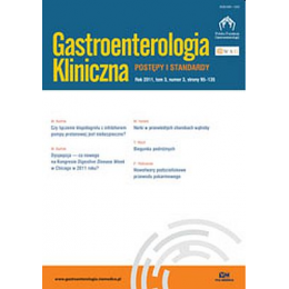 Gastroenterologia Kliniczna- pojedynczy zeszyt  (Dostępny tylko w ramach prenumeraty po uzgodnieniu z Księgarnią)